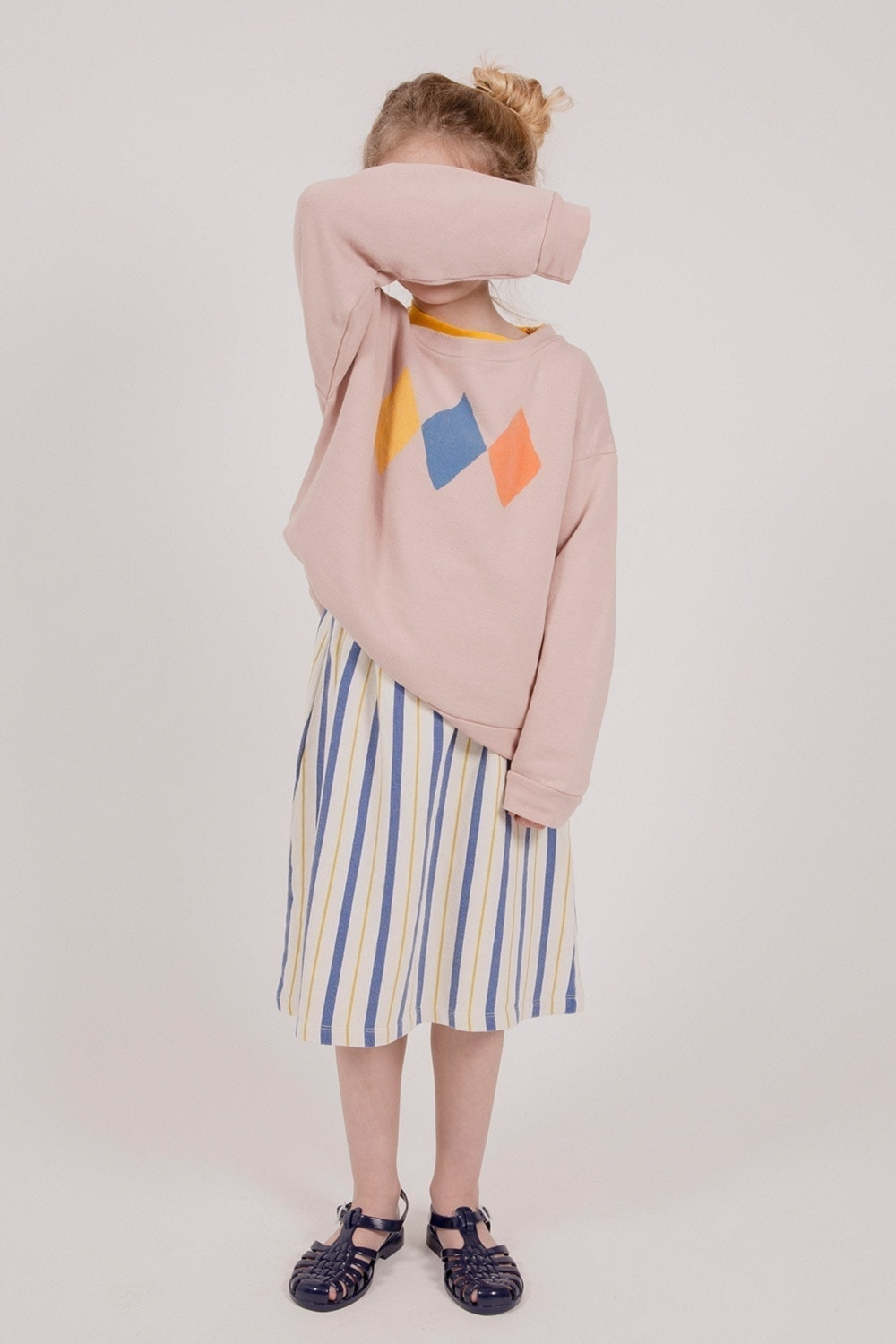 thecampamento_striped_skirt_lookbook