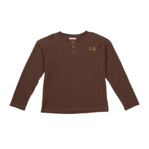Brown-waffle-tshirt-front