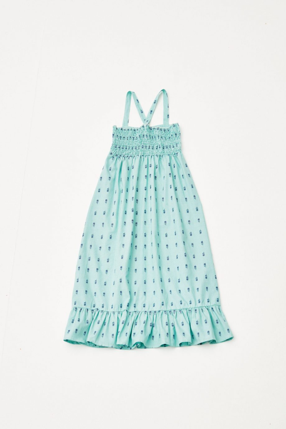 Embroidered Flowers Dress back