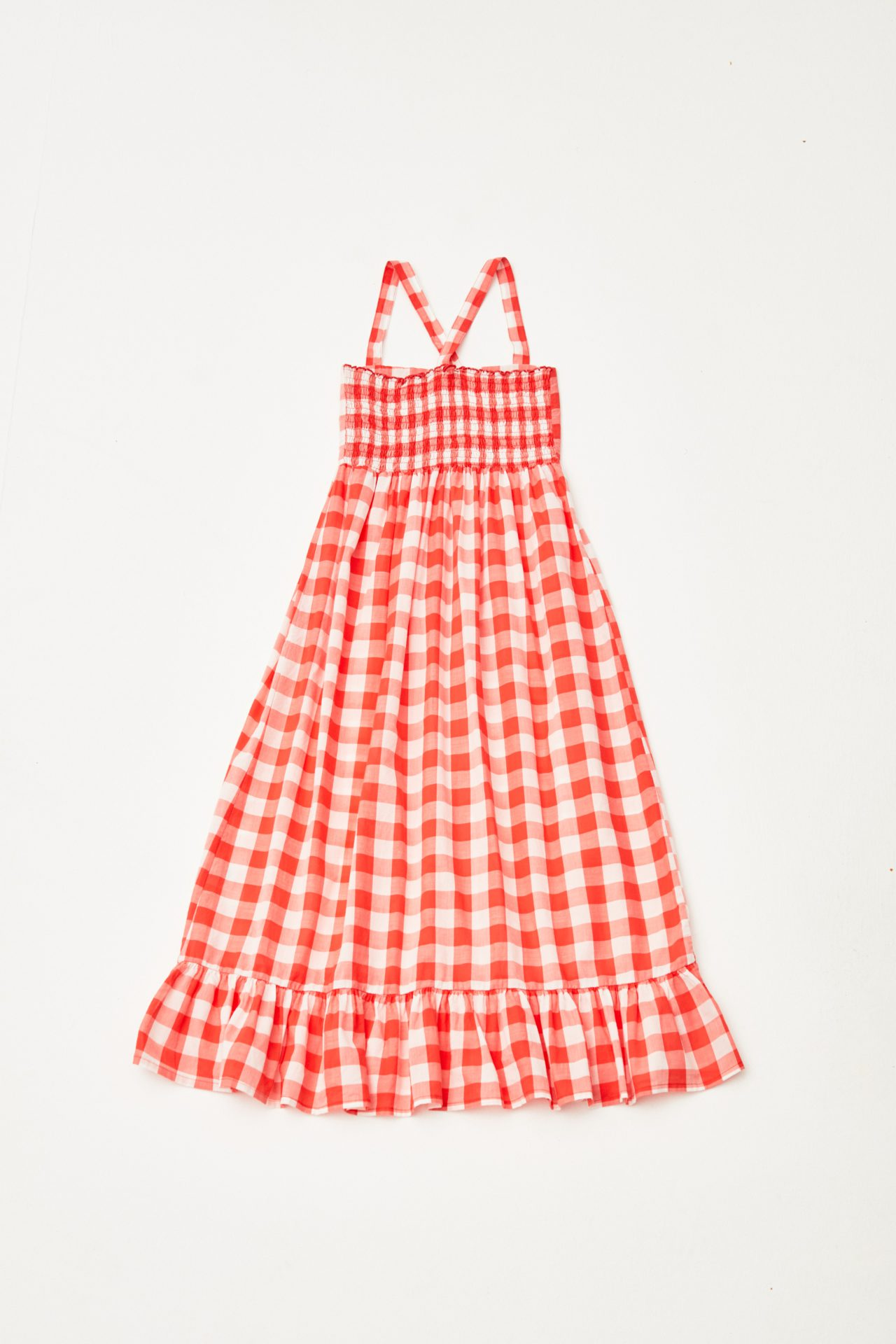 Checked Dress back
