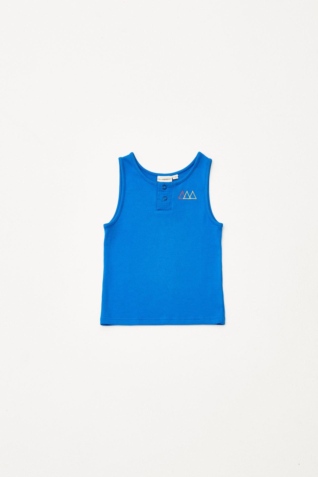 Embroidered Sleveless Tshirt