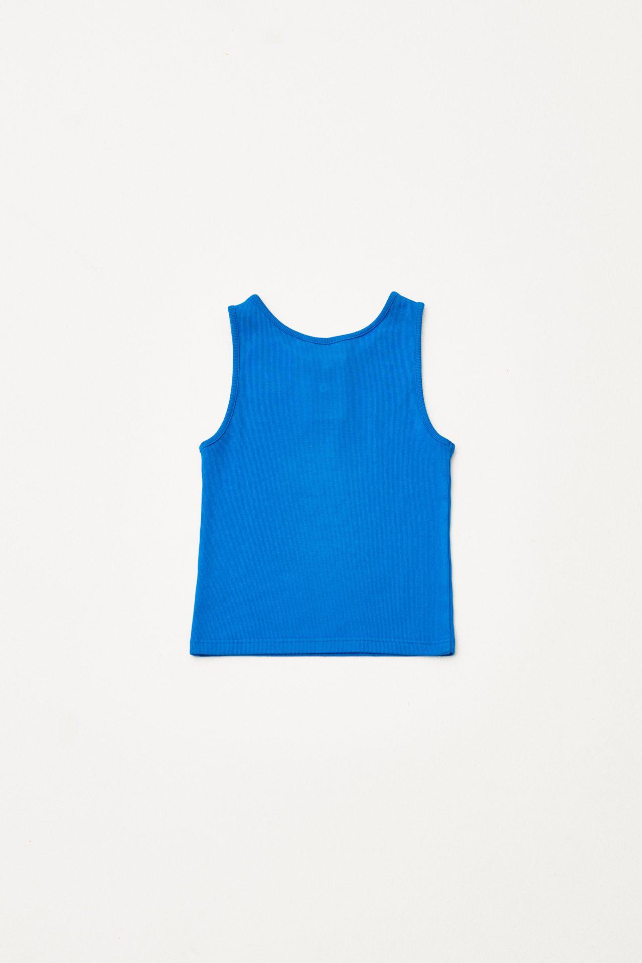 Embroidered Sleveless Tshirt back