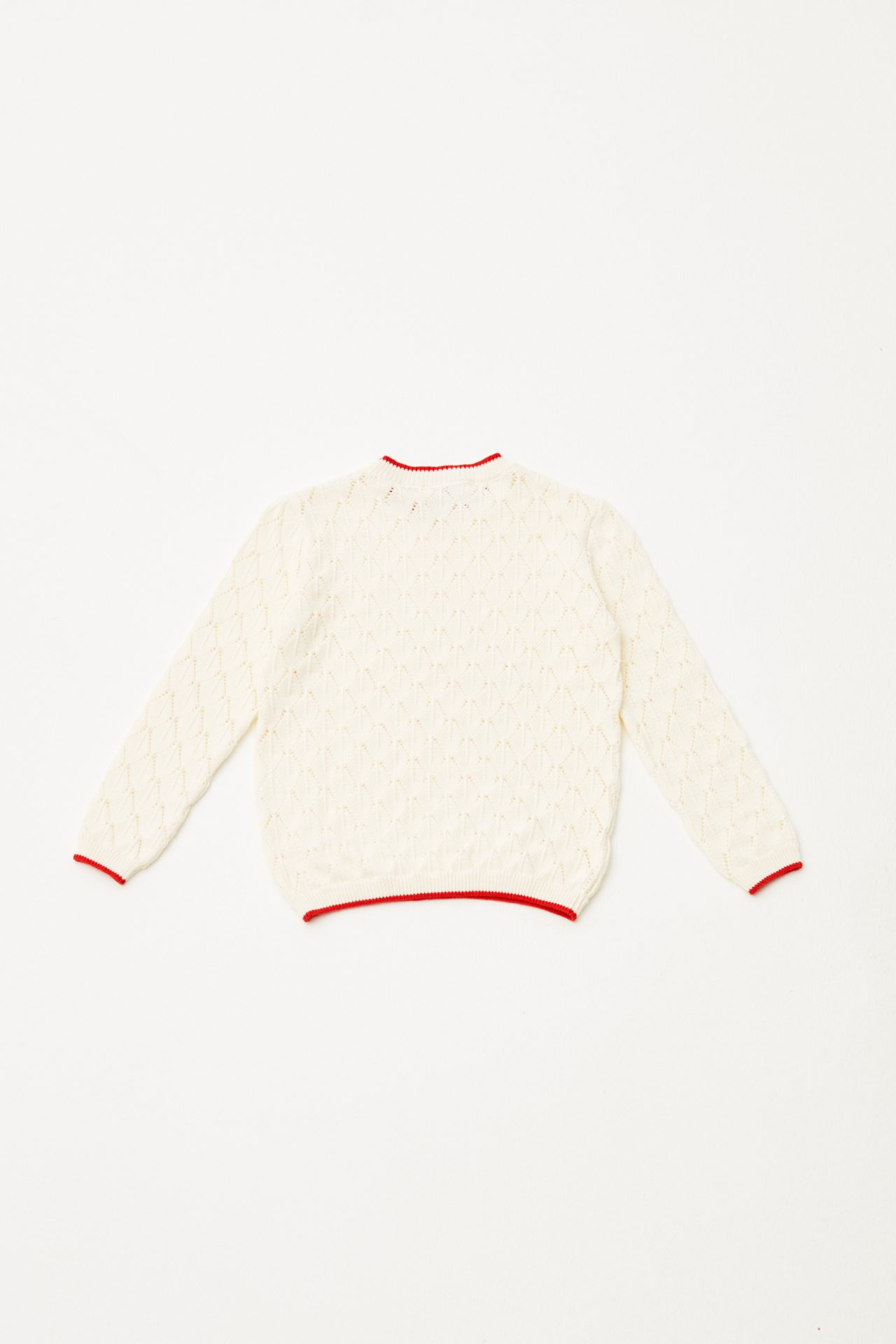 Open Knitted Jumper back