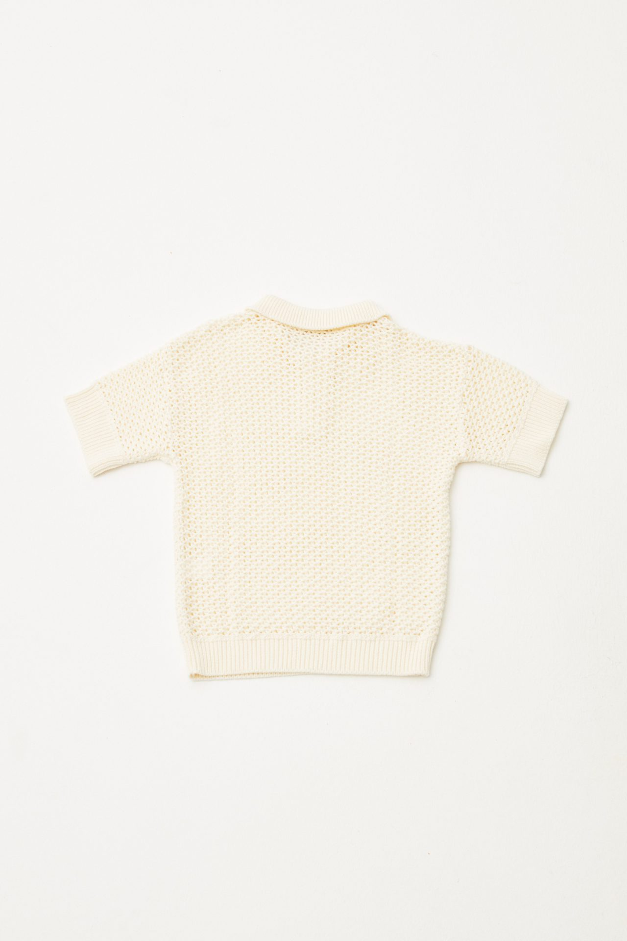 Open Knitted Polo back