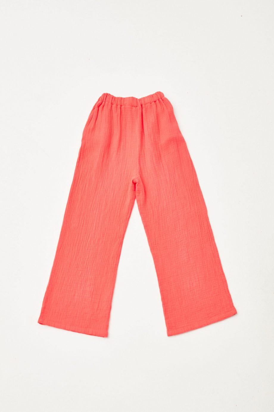 Red Bambula Pants back