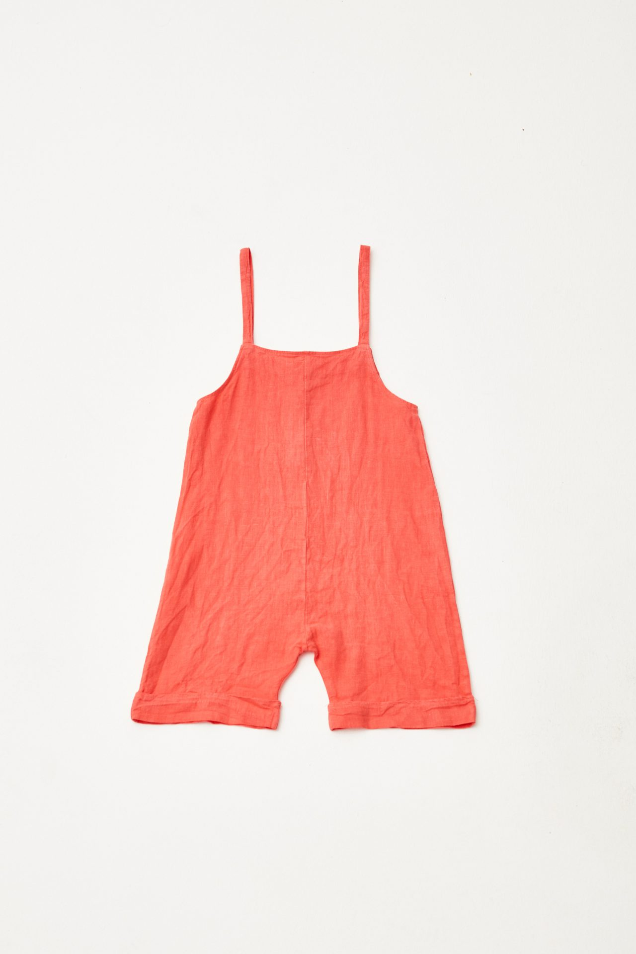 Red Dungaree back