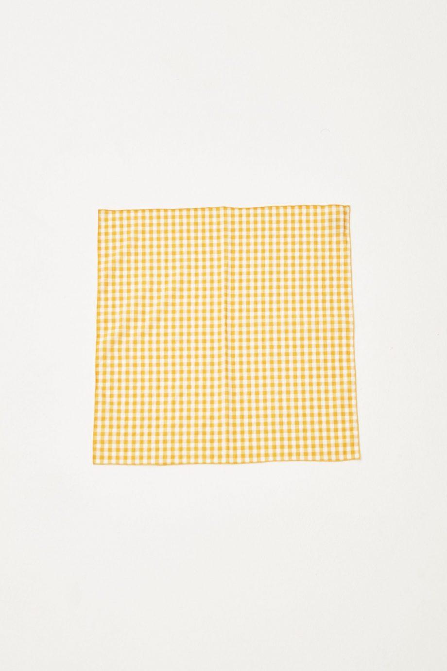 Yellow Checks Scarf 2