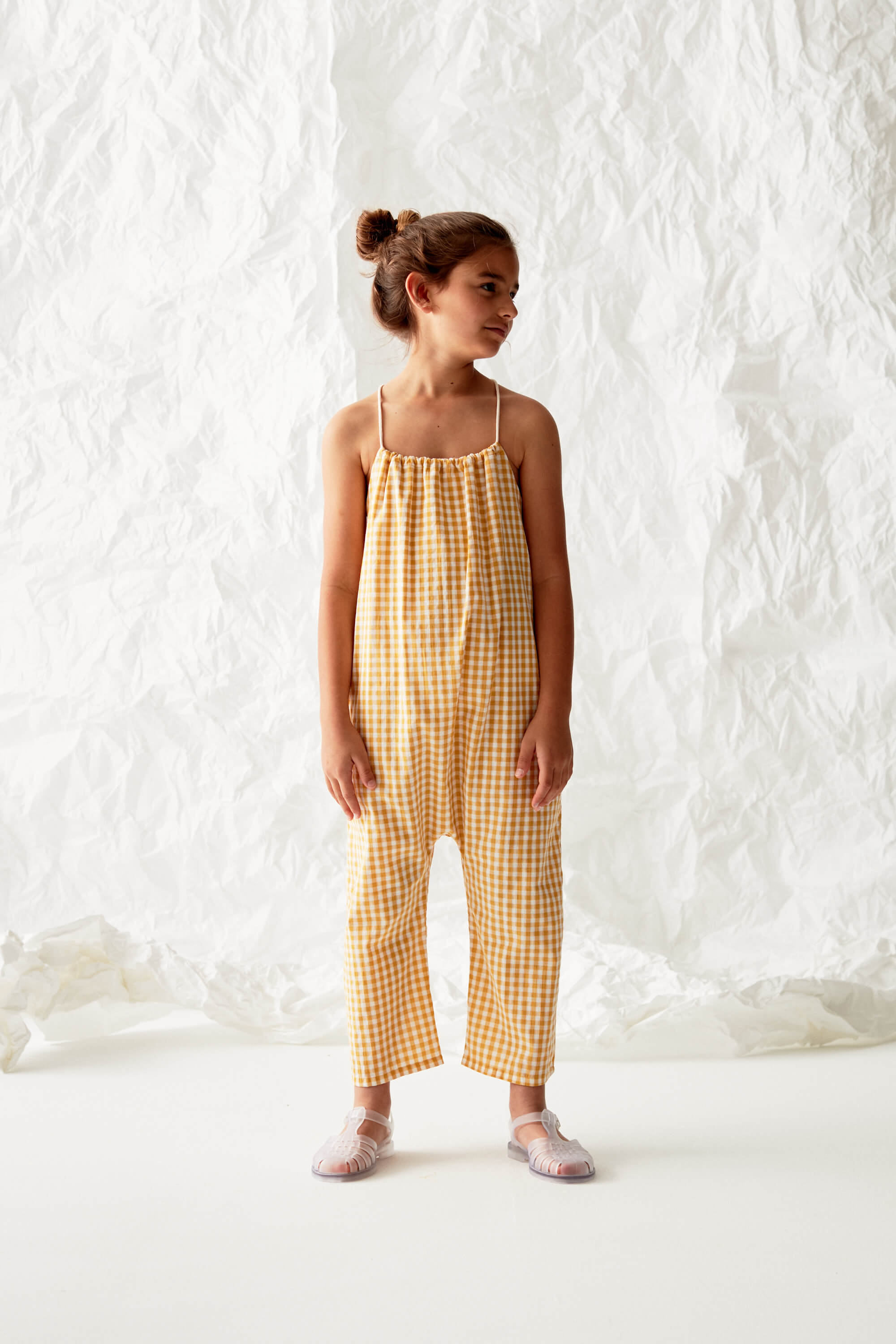 Checked Dungaree Look